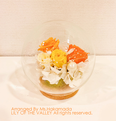 プリザーブドフラワー 袴田さまの作品